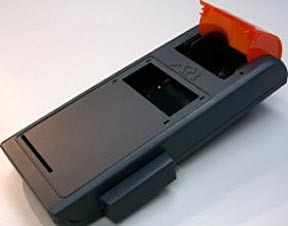 Plastic injection mould for ticket machine cover
